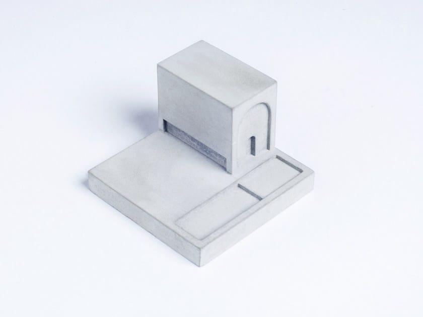 Concrete Furniture knob / architectural model Miniature Home Concrete #7 - Material Immaterial studio