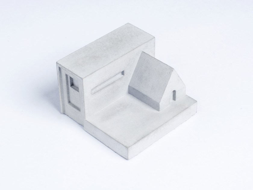 Concrete Furniture knob / architectural model Miniature Home Concrete #8 - Material Immaterial studio