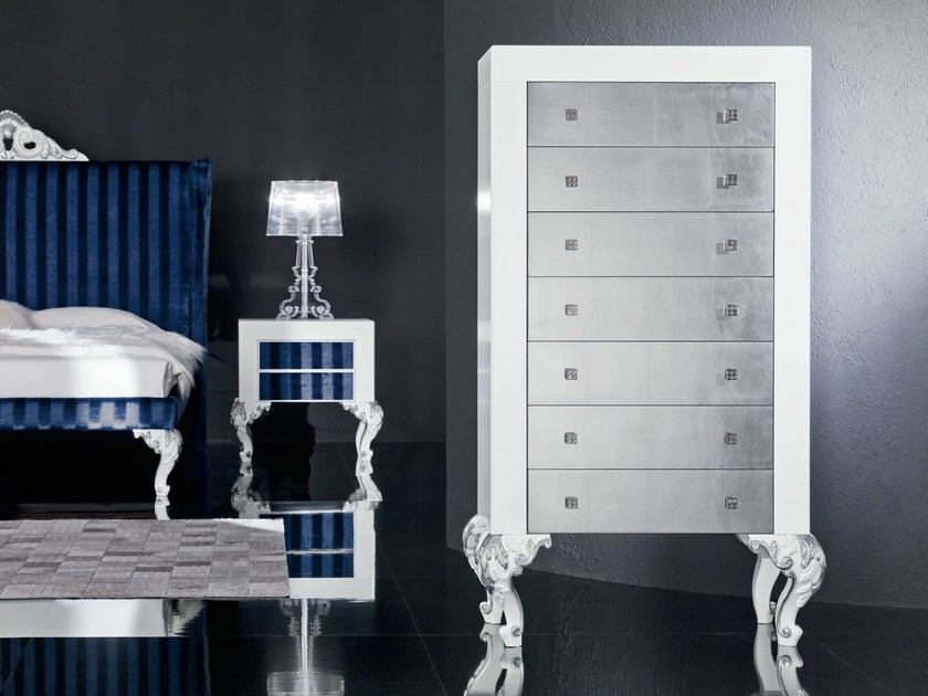 Chest of drawers with Swarovski handle and knot - Minimal Baroque Collection - Modenese Gastone