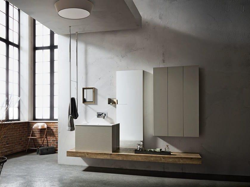 Mobile lavabo singolo sospeso MINIMAL PLAY 52/53 by Cerasa