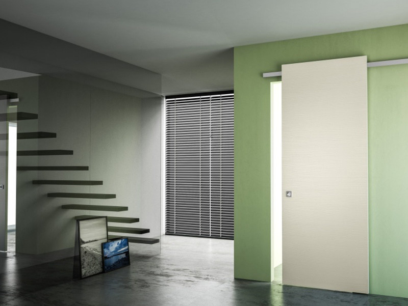 Pine sliding door without frame MINIMAL SOFT by PIVATO