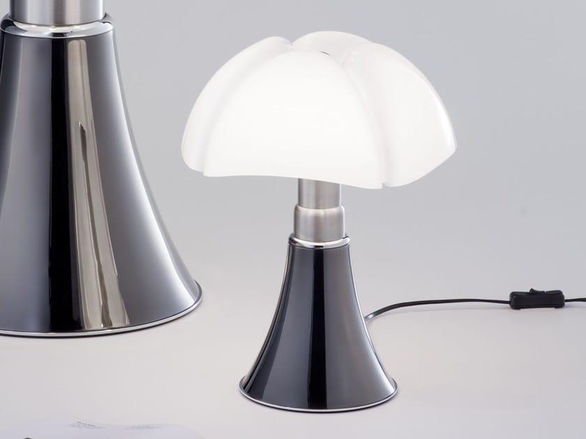 Titanium table lamp MINIPIPISTRELLO TITANIUM VERSION - Martinelli Luce