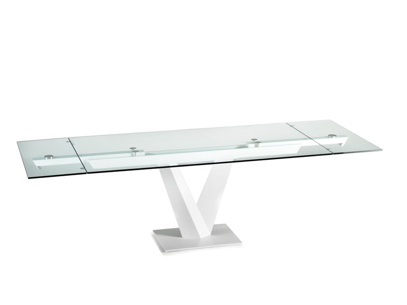 Minosse tavolo in cristallo by naos design yoshiharu hatano for Tavolo da pranzo in cristallo