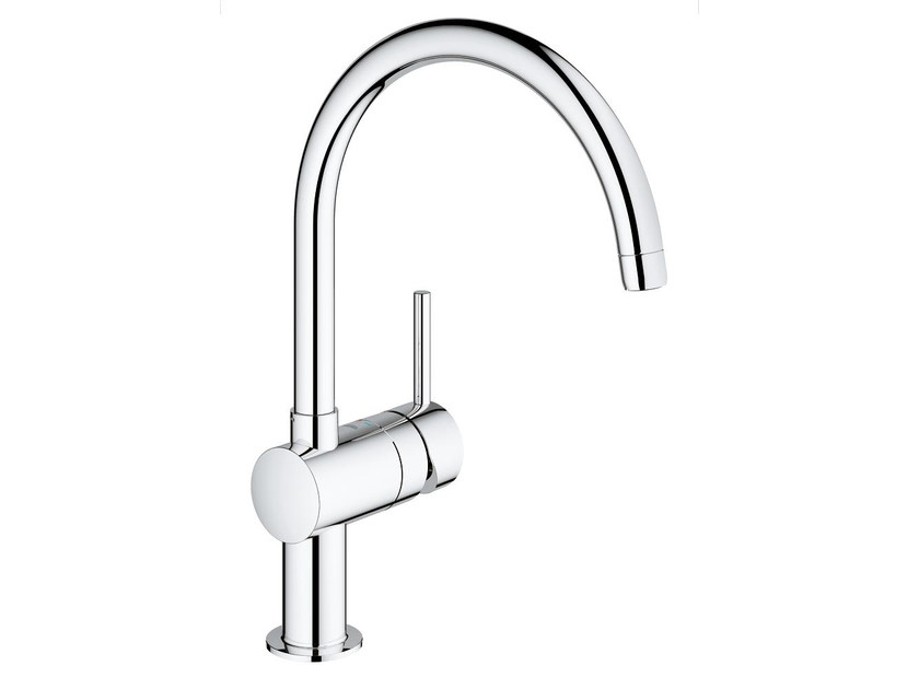 1 hole kitchen mixer tap with swivel spout MINTA C | Kitchen mixer tap by Grohe