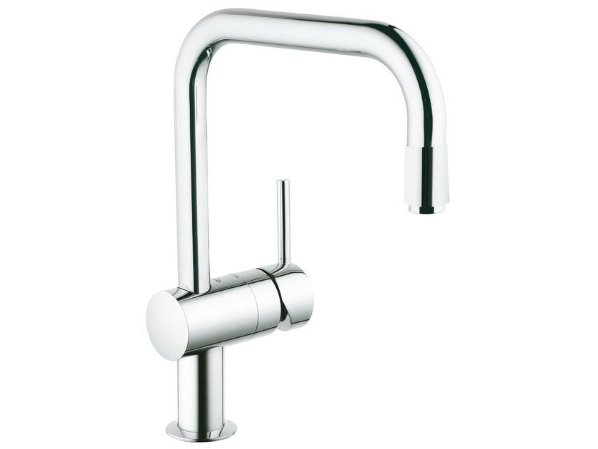 1 hole kitchen mixer tap with swivel spout MINTA U | Kitchen mixer tap with aerator by Grohe