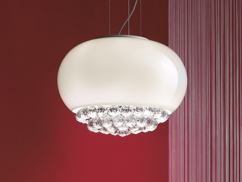 Direct light laminated glass pendant lamp MIR | Pendant lamp by Masiero