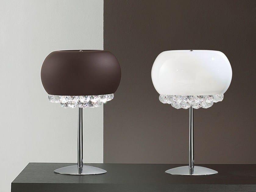 Lampada da tavolo a luce diretta in vetro laminato MIR | Lampada da tavolo by Masiero