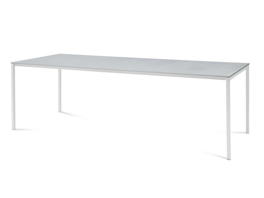 Extending rectangular steel table MIRAGE - DOMITALIA