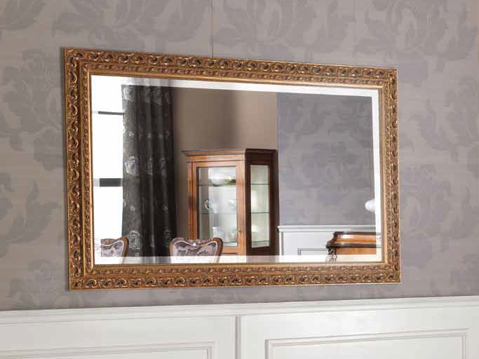 Rectangular wall-mounted framed mirror HENRY | Mirror - Arvestyle
