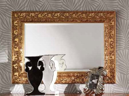 Wall-mounted framed mirror SAMUEL | Mirror - Arvestyle