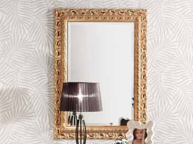 Rectangular wall-mounted framed mirror VANIA | Mirror by Arvestyle