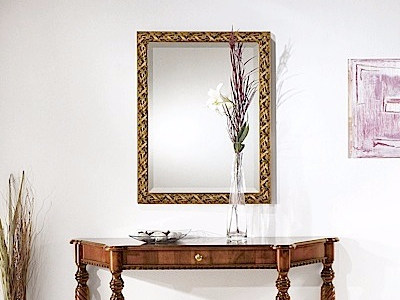 Rectangular wall-mounted framed mirror ATHOS | Mirror - Arvestyle