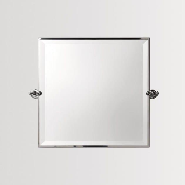Square wall-mounted bathroom mirror SHINING | Mirror - BATH&BATH