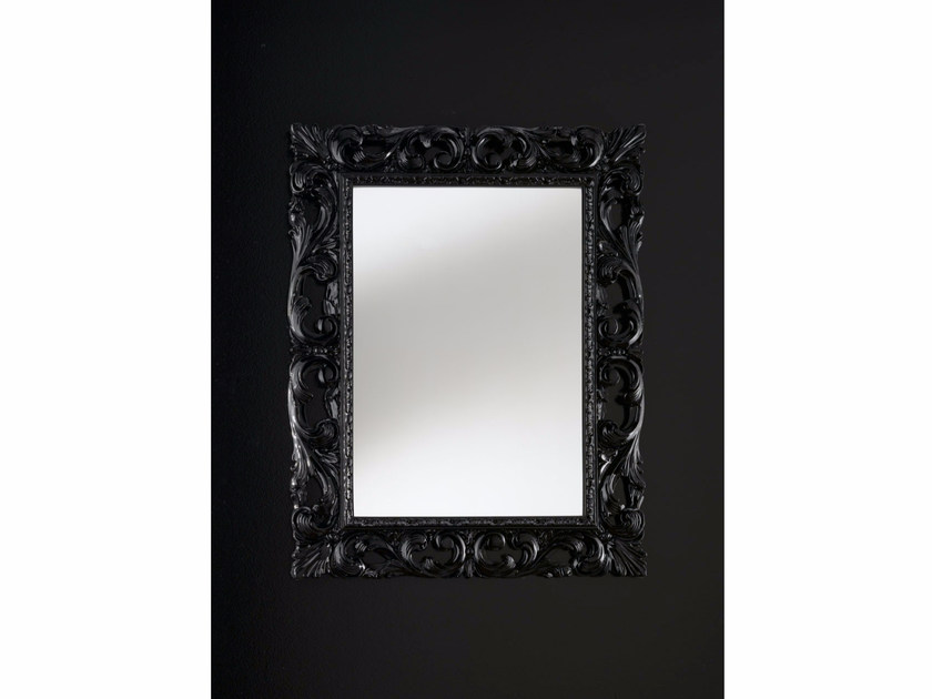 Rectangular wall-mounted framed mirror BAROQUE | Mirror - IDL EXPORT