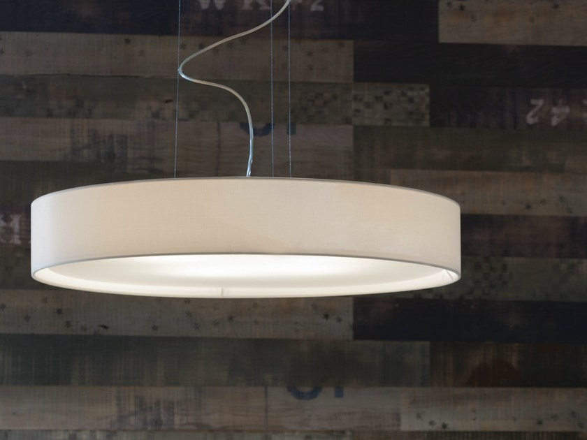 LED fabric pendant lamp MIRYA | Pendant lamp - LUCENTE - Gruppo Rostirolla