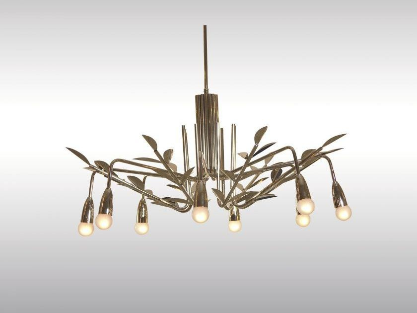 Classic style brass chandelier MISTEL - Woka Lamps Vienna