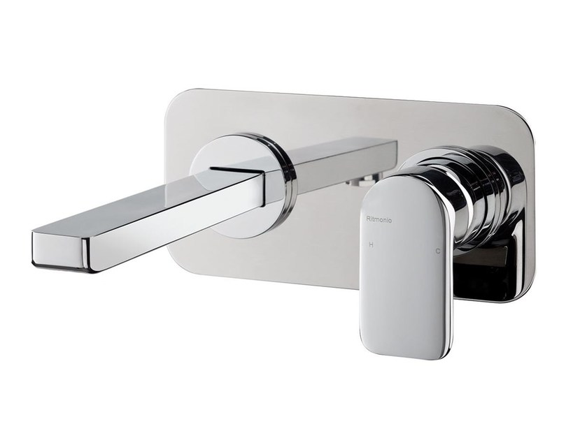 Wall-mounted washbasin mixer MISTERY | Wall-mounted washbasin mixer - RUBINETTERIE RITMONIO