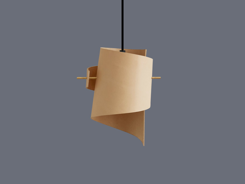 LED handmade leather pendant lamp ML01 MINI LEATHER NATURE by moijn