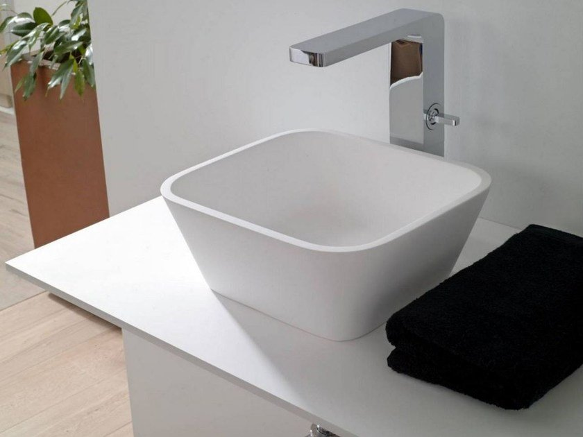 Countertop Krion® washbasin MODUL | Countertop washbasin by Systempool