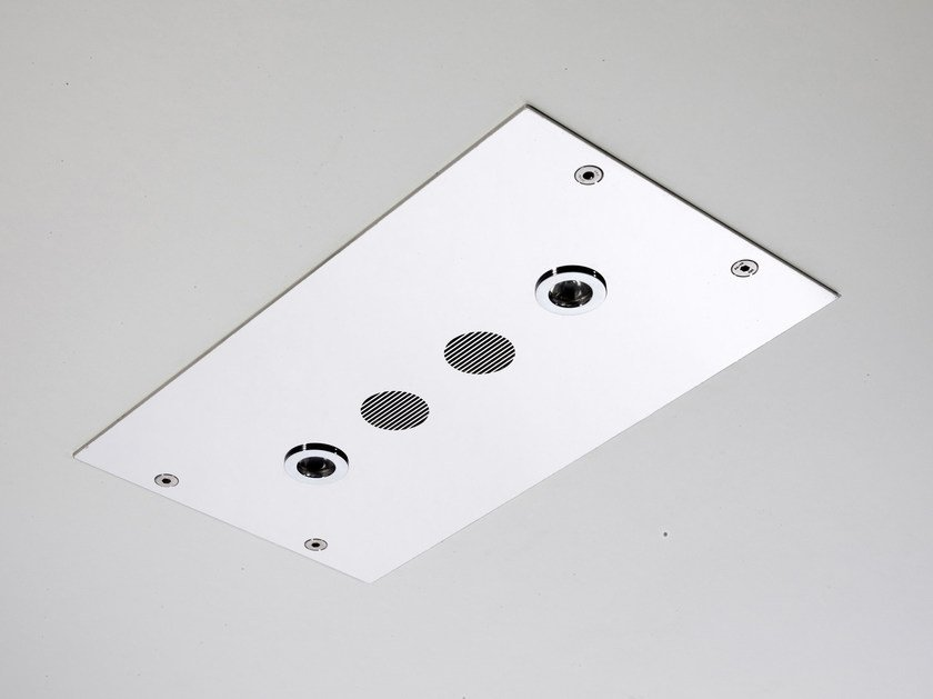Ceiling mounted extra flat stainless steel overhead shower MODULAR F2820 - FIMA Carlo Frattini