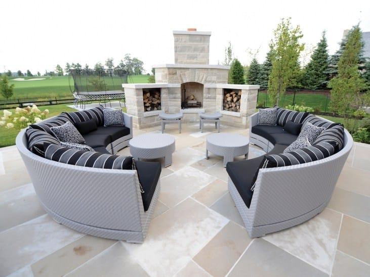 Modular round garden sofa TRIBECA | Modular sofa - 7OCEANS DESIGNS