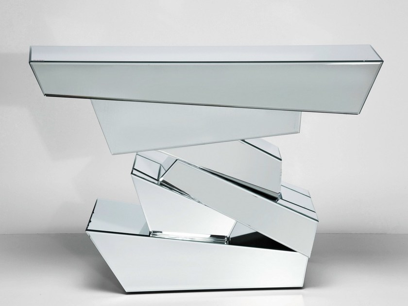 Mirrored glass console table MODULE | Console table - KARE-DESIGN