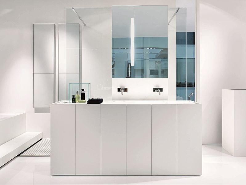 Sectional floor-standing Corian® vanity unit MODULO 30 | Corian® vanity unit - MAKRO