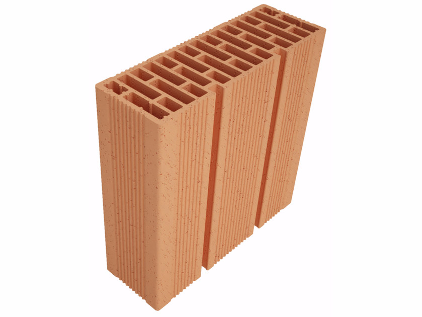 Clay block for internal partition Modulo FO Plus MO35012 by Fornaci Ioniche