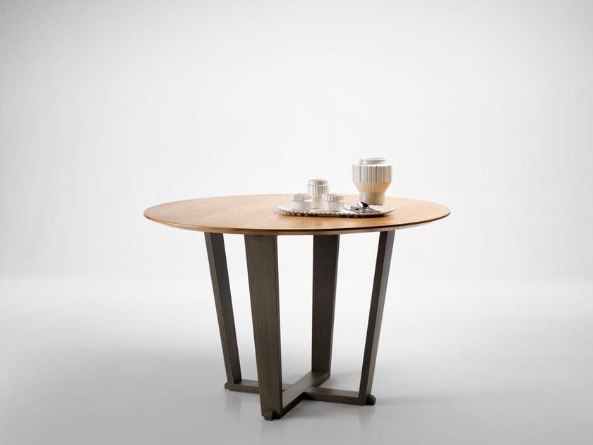 Round oak table MODUS by L'Ottocento