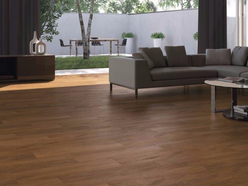 Pavimento in gres porcellanato effetto legno MOGANO - GranitiFiandre
