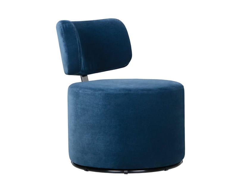 Swivel upholstered velvet armchair MOKKA | Velvet armchair by SITS