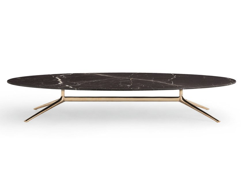 COSMOS Oval Coffee Table Cosmos Collection By Poliform