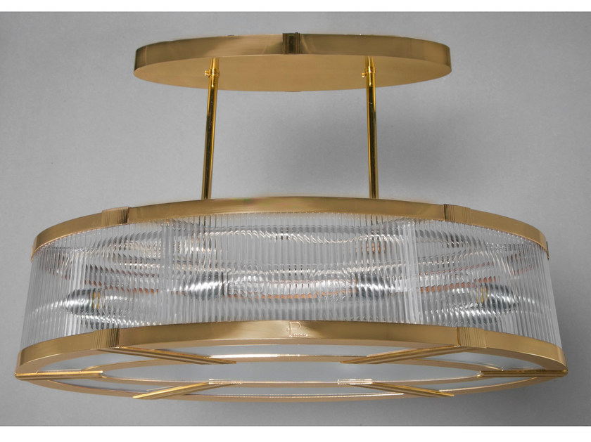 Direct light brass pendant lamp MONTREAL | Brass pendant lamp by Patinas Lighting