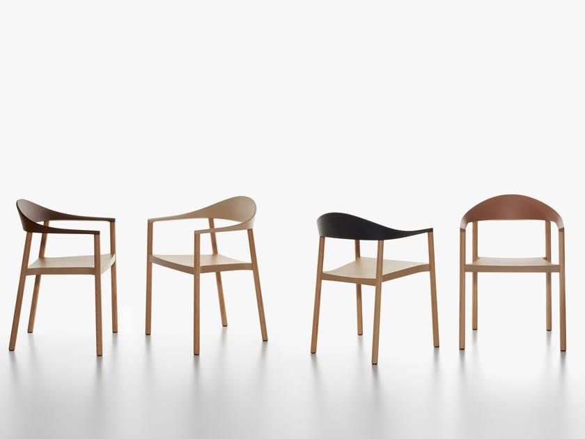 Stackable oak chair MONZA | Oak chair by Plank