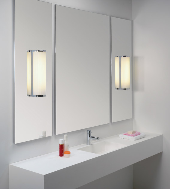 Chrome bathroom lights