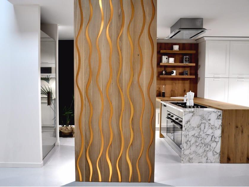 Super Parete divisoria in resina e legno MOOD FORME - Azimut-Resine JI56