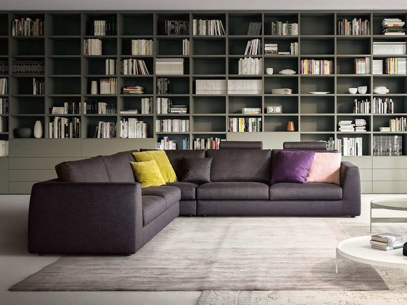Corner fabric sofa MOOD | Corner sofa by PIANCA