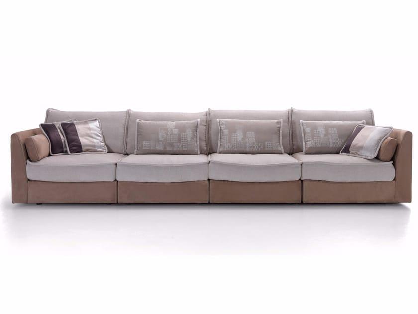 Modular Nabuk and fabric sofa MOOD | Sofa by Borzalino