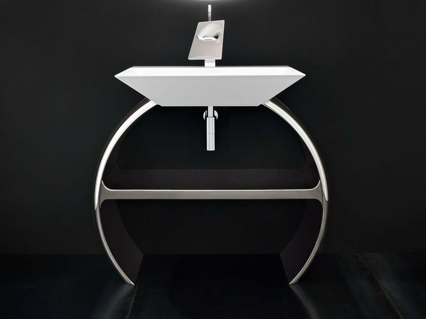 Chrome plated vanity unit MOON - Cerasa