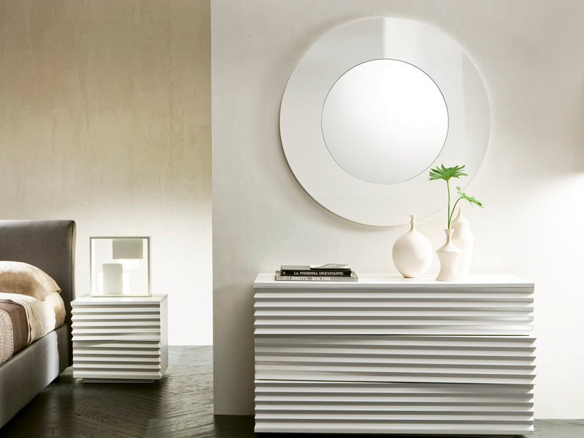 Specchio a parete con cornice MOON - Pacini & Cappellini