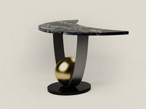 Marble console table MOON TABLE by Paolo Castelli