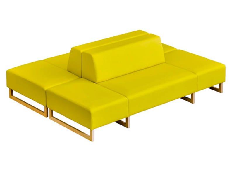 Modular leather bench MOON | Bench - SANCAL