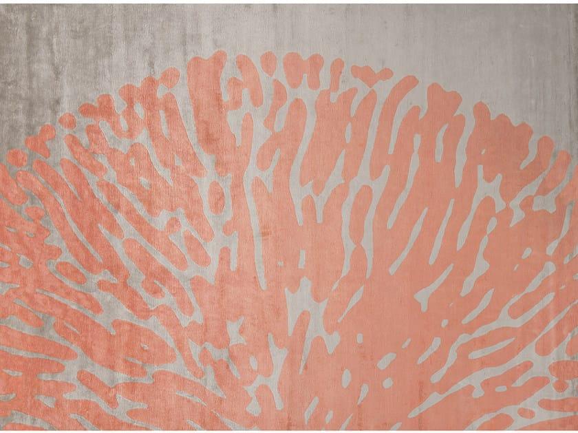 Tappeto fatto a mano rettangolare in stile moderno MOOREA FLAMINGO by EDITION BOUGAINVILLE