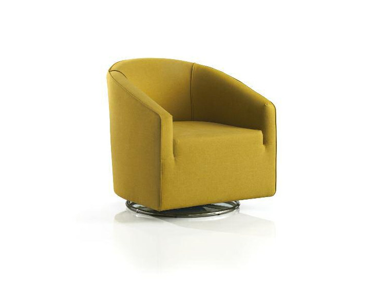Upholstered fabric easy chair with armrests MORE by Papadatos