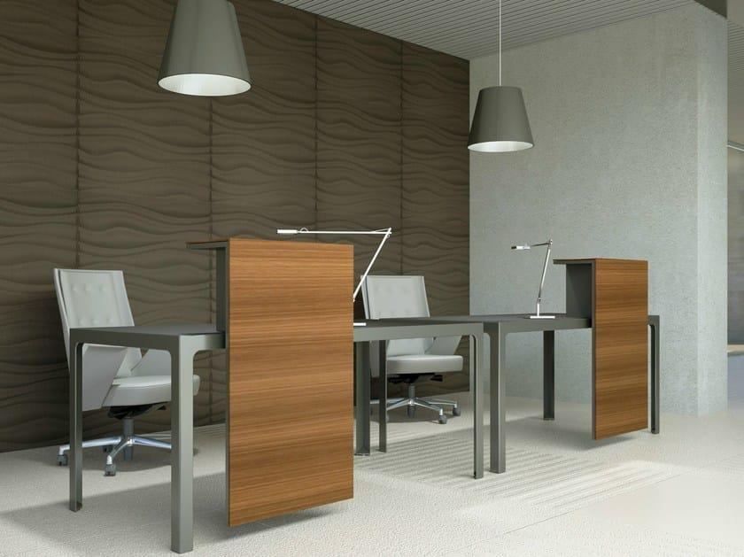Wooden Office reception desk MORE | Wooden Reception desk by ESTEL GROUP