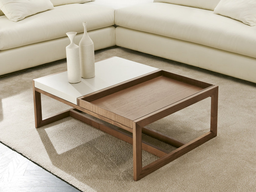 Low coffee table with tray MOSAICO | Coffee table - Pacini & Cappellini