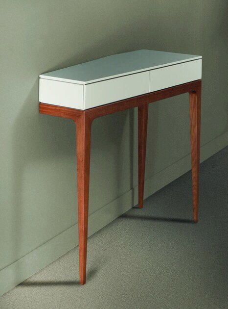 Table console en mdf avec tiroirs moved collection les for Table khi deux