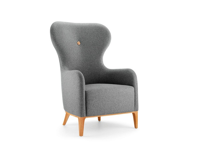 High-back armchair with armrests MR - Boss Design