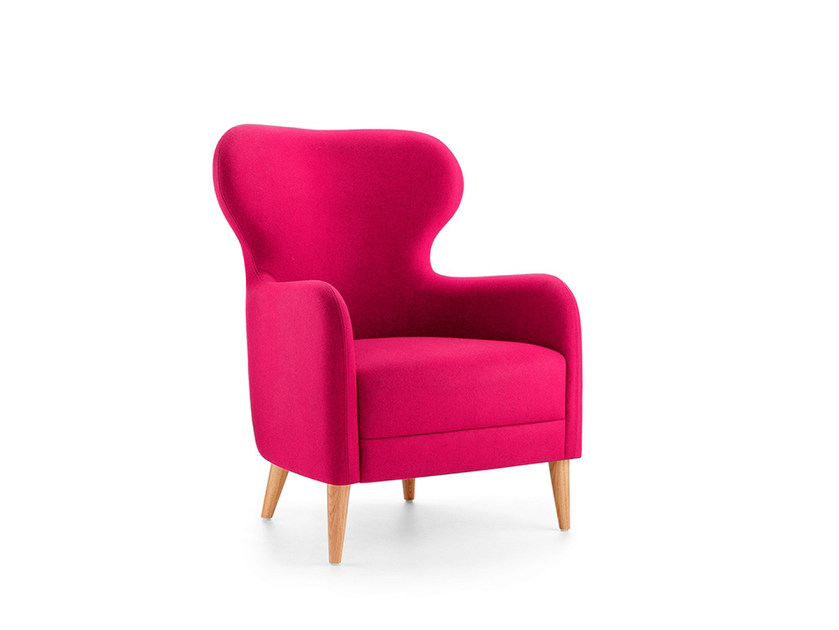 Upholstered armchair with armrests MRS by Boss Design