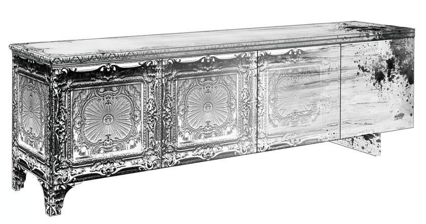 Decapé glass-fibre sideboard with doors MS-02 - MOMENTI di Bagnai Matteo